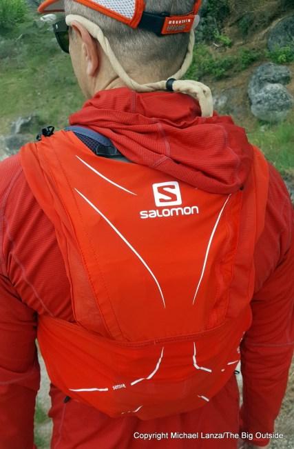 Salomon ADV Skin 12 running hydration vest.