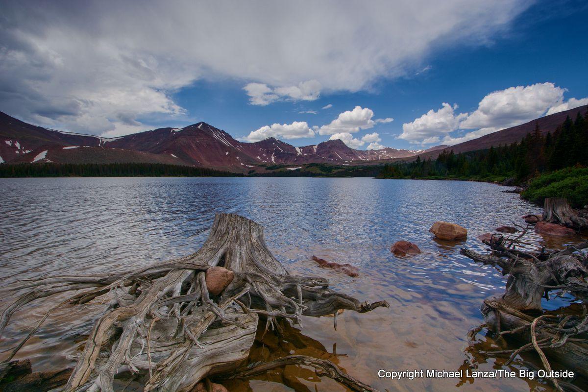 Lake Atwood, Chain Lakes Atwood Trail 43, High Uintas Wilderness, Utah.