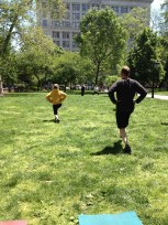 A perfect day for a workout in the park