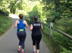 My running partner, Katrina and her sister Jess.