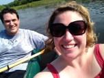 "Me and Morgan ""selfie"" on the lake"