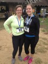 Jess & Katrina, post race with their medals