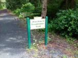 Path entrance to Junction & Breakwater Trail