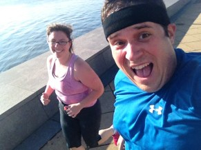 Jess & I -selfie while running