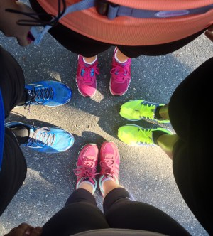 Our shiny running sneaks