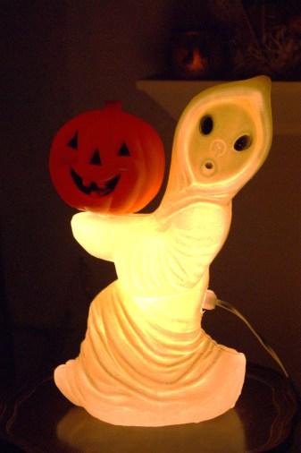 Vintage Ghost and Pumpkin