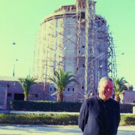 P. Oreglia - Construcción de la Torre Vinaria inaugurada en 1968