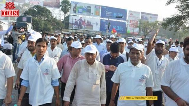 Patna University VC Ras Bihari Singh Joined the Marathon | The Bihar News