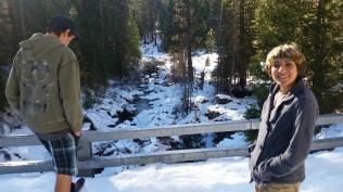 Sierras in snow.