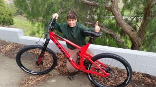 Louis' new bike.