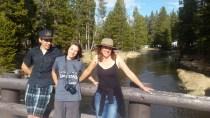 Walking around Yellowstone.