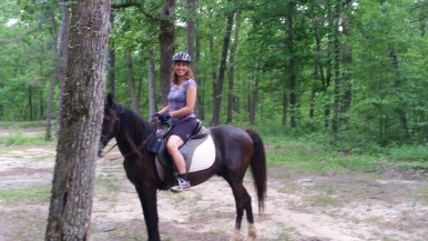 Looking good on that horse Angie.