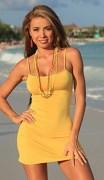 Sexy Yellow Beach Dress