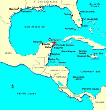 Cancun Mexico Map Cancun Mexico Spring Break