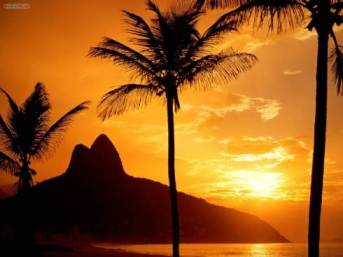 Rio de Janeiro Beach Sunset Popular Travel Destinations