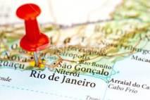 Rio de Janeiro Map Pinned Popular Travel Destinations