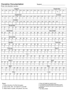 discipline-documentation-sheet