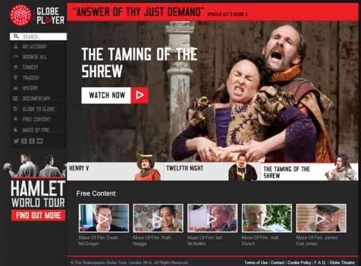 Shakespeare's Globe: GlobePlayer.tv