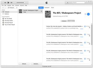 The Bill / Shakespeare Project on iTunes!