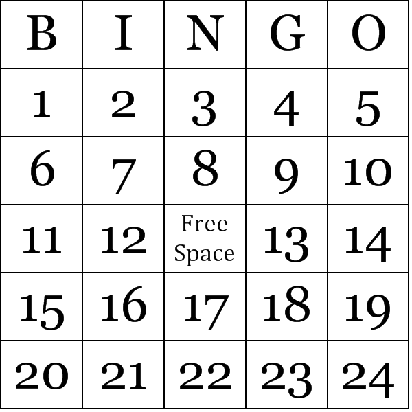 Ambitious image in free printable bingo cards 1 75