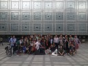 Students in front of the Institut du Monde Arabe