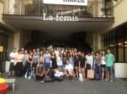 Students visit La Femis, a film school in Paris
