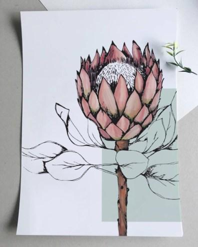 jislaaik - protea print