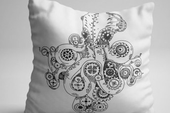 Octopus scatter cushion