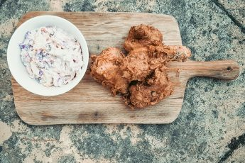 amasi fried chicken with coleslaw