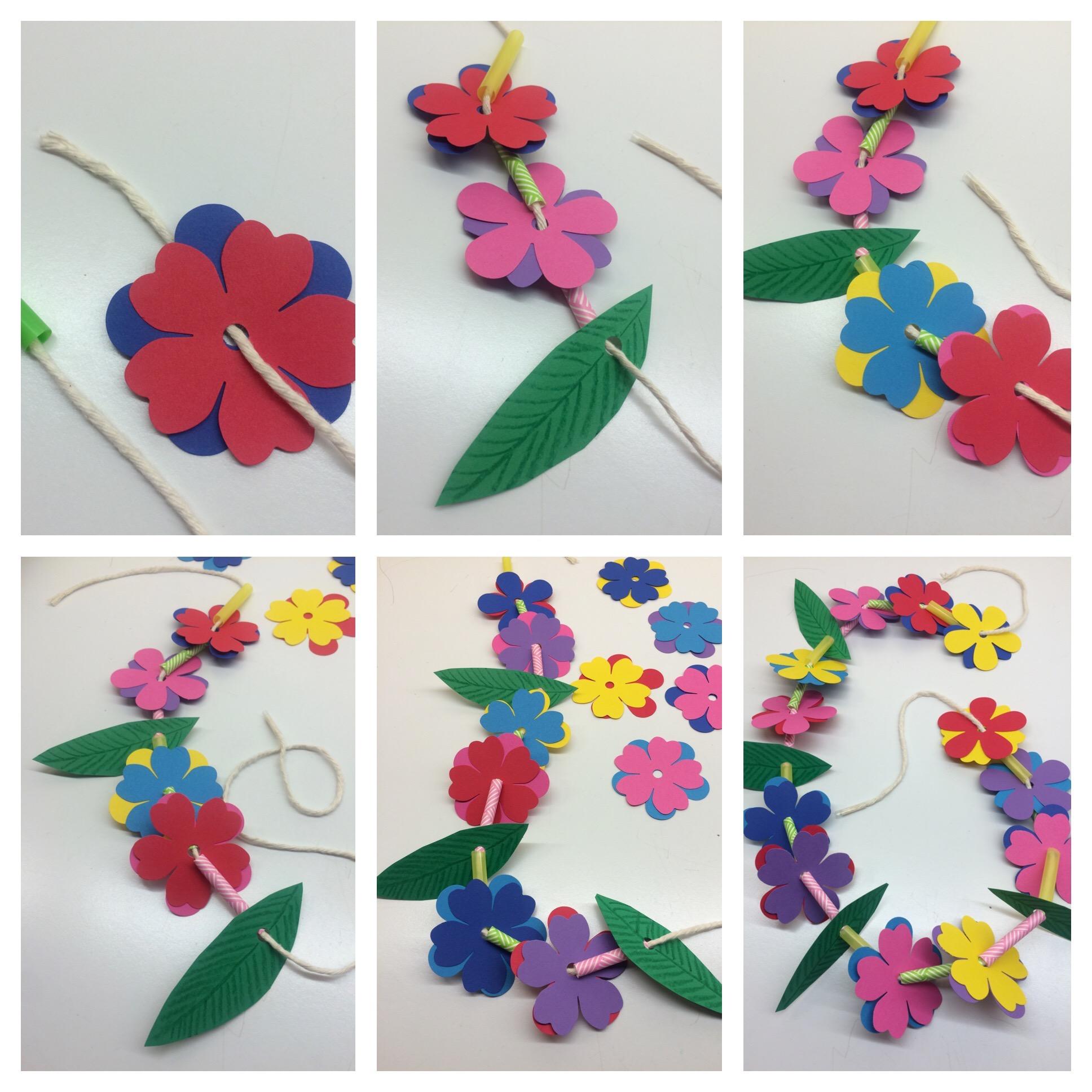 Craft For Kids Hawaiian Lei Amp Grass Crown