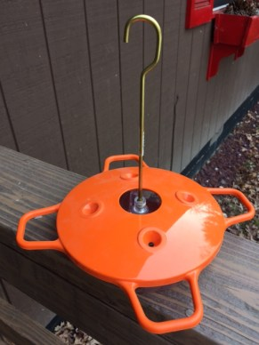Our new oriole feeder! Orioles orange, of course,
