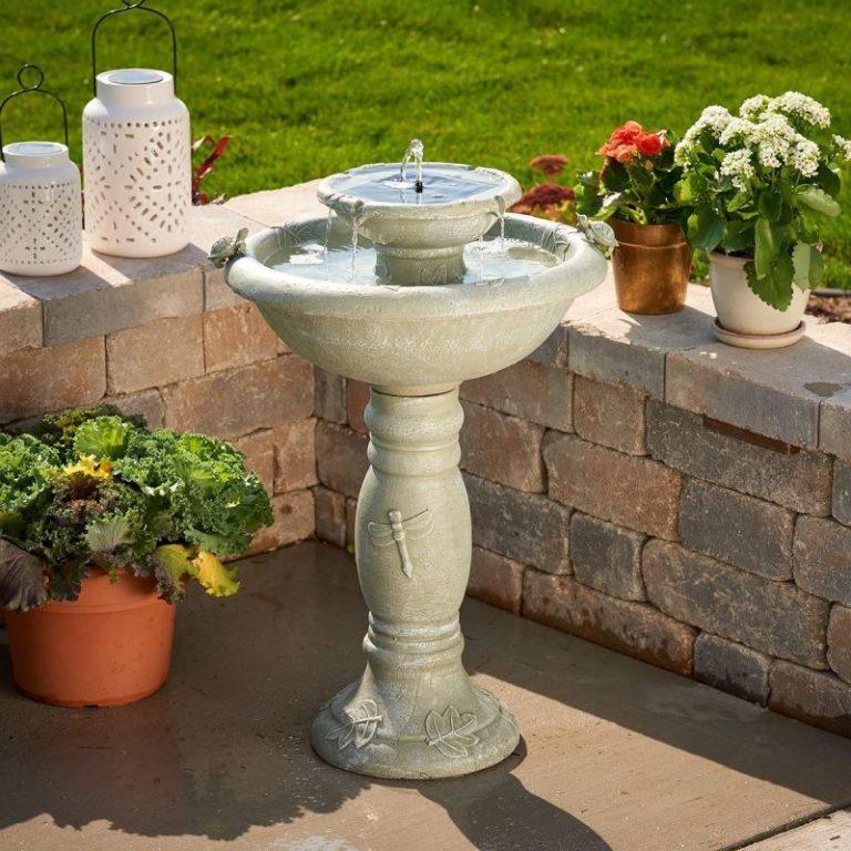 bird bath fountain