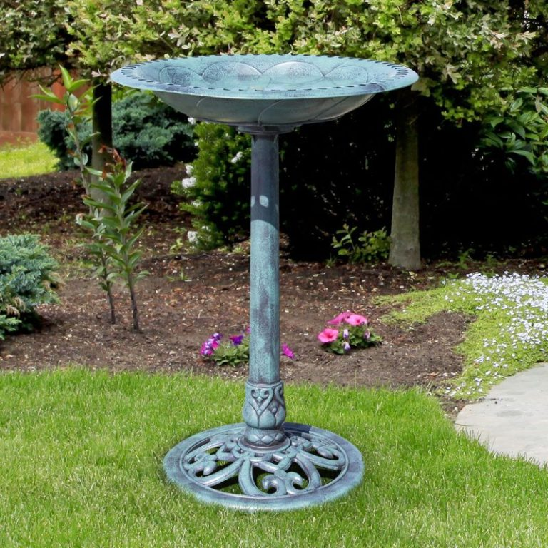 Best Choice Products Outdoor Garden Pedestal Bird Bath