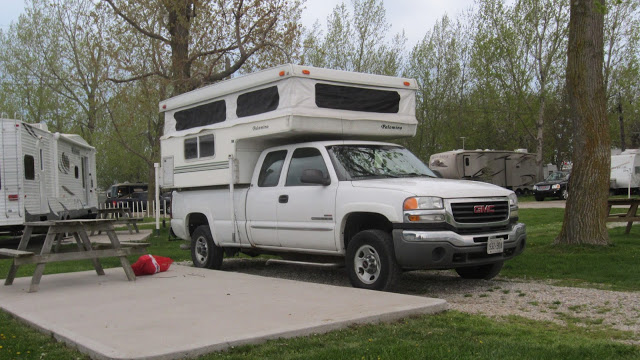Camper at Point Pelee