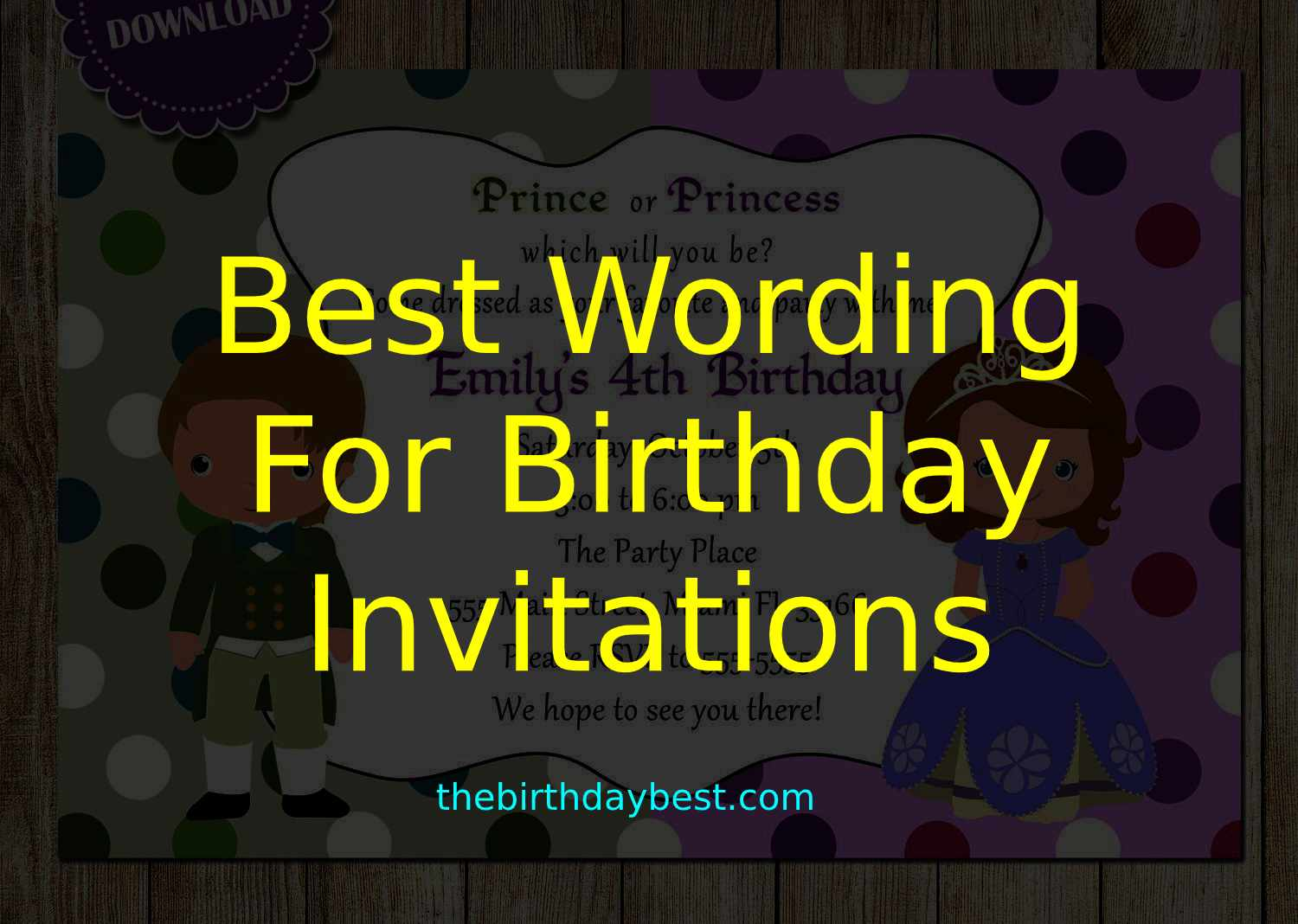 5+ Best Wording for Birthday Invitations of 5 - Templates