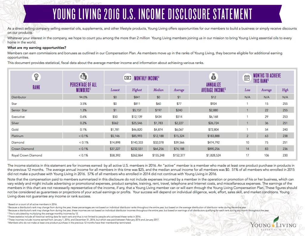 YL income disclosure