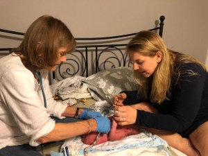 homebirth newborn exam
