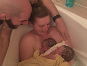 twin water birth at birth center