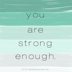 You are strong enough