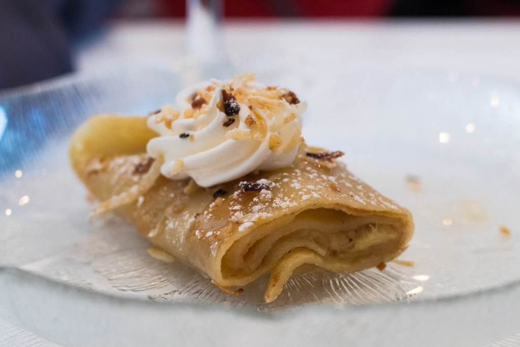 The Banana Exotique Crepe from Le Crepe in Royal Oak, MI is the perfect thing to satisfy your sweet tooth. Caramel, bananas, coconut, and whipped cream come together to create a sweet treat. Find the full post at thebite2night.com