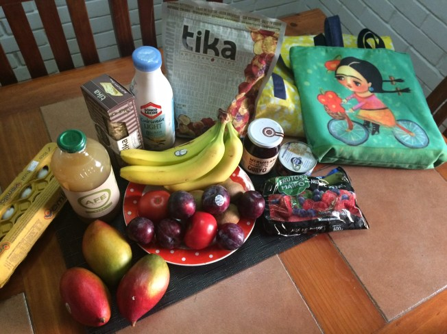 Grocery haul with my reuseable grocery bags!