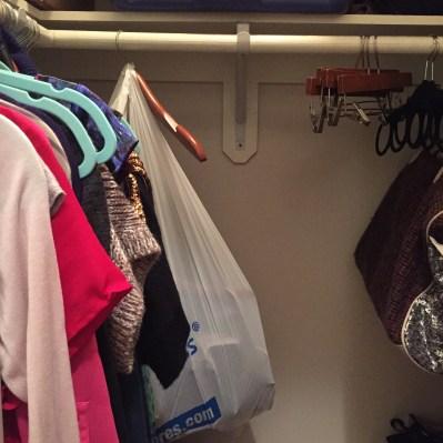 Empty closet.