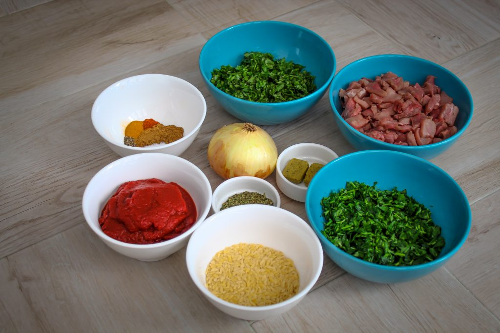 Ingredients of the Libyan soup