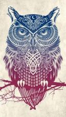 Tribal Owl Wallpaper by TelephoneWallpaper.com