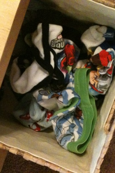 Basket of Underwear for Potty Training