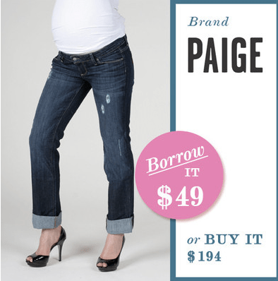 Borrow For Your Bump Maternity Jeans