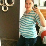 maternity stripe shirt