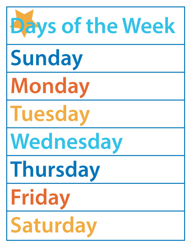 It's just an image of Exceptional Free Printable Days of the Week Worksheets