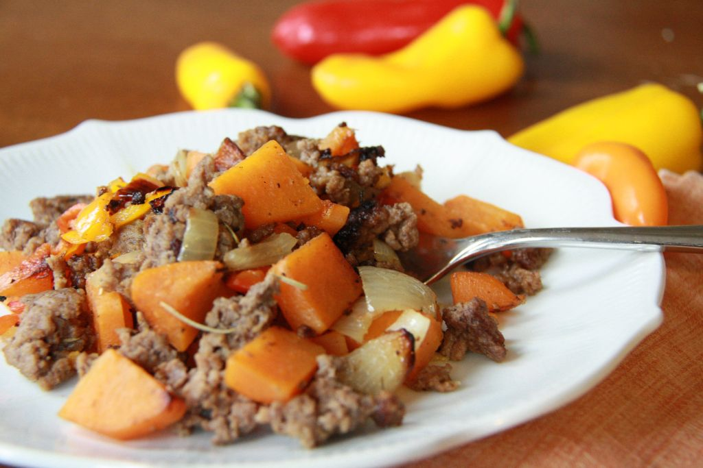 sweet potato sweet pepper beef