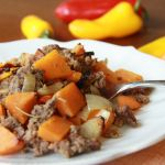 sweet potato sweet pepper beef